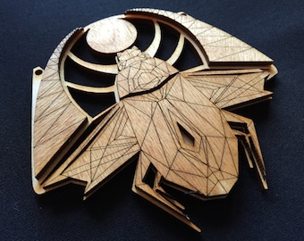 Wooden Eye Necklace