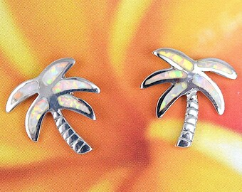 Elegant Hawaiian Blue Opal Earring Sterling Silver Blue Opal Dangle Earring E4182 Valentine Birthday Wife Mom Gift Statement PC