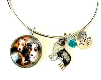 I love my dog custom photo bracelet *dog charm not included*