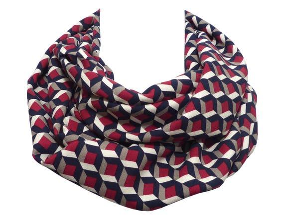 Echarpe tissu Haute Couture Femme Homme rouge bordeaux gris   Etsy 8c205d930ae