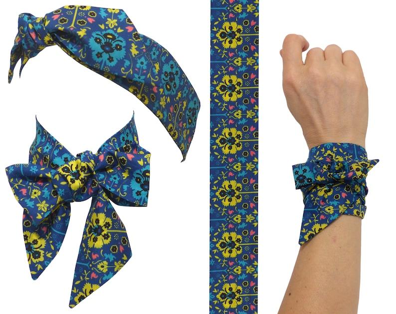 8c5b39f091d973 Skinny Scarf Liberty of London Byrne floral pattern
