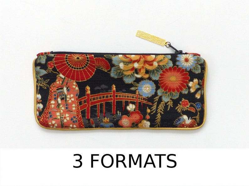 496433fca Small bag for pencil / glasses / Makeup phone case japanese   Etsy