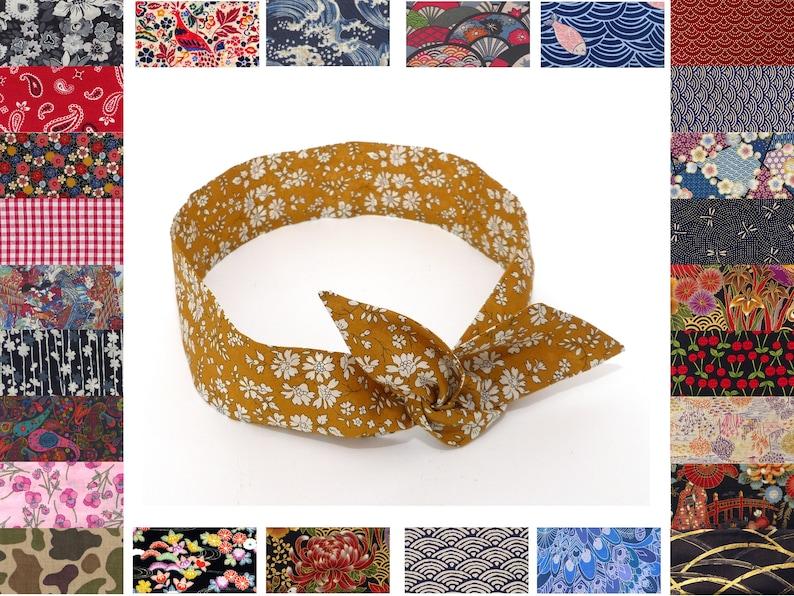 56fe32942 Custom wired headband 150 FABRIC OPTIONS High quality   Etsy