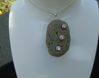 Handmade Welsh Beach Pebble Pendant