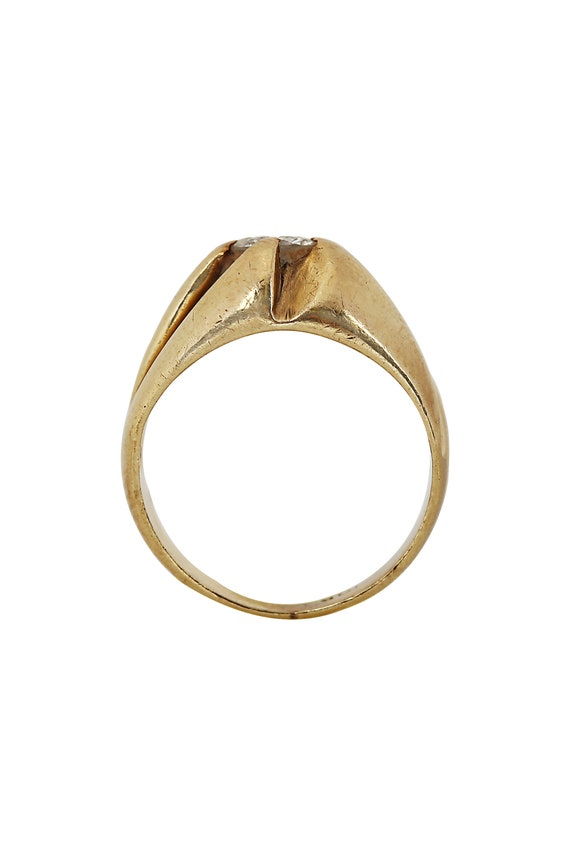 Diamond Solitaire Yellow Gold Ring - image 3