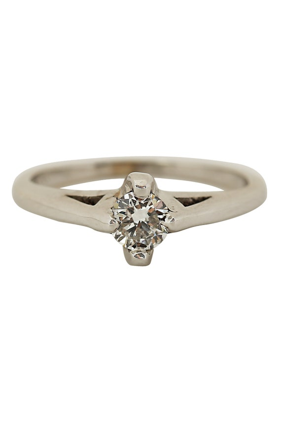 Diamond Solitaire 14K White Gold Ring