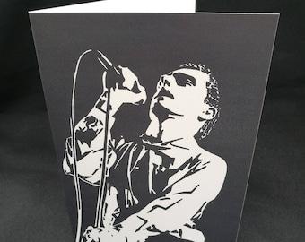 Ian Curtis Greeting Card