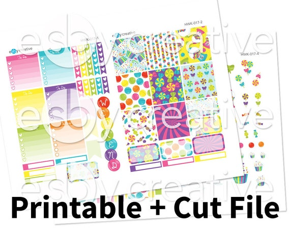 Candyland Theme Weekly Sticker Kit Printable For Erin Etsy