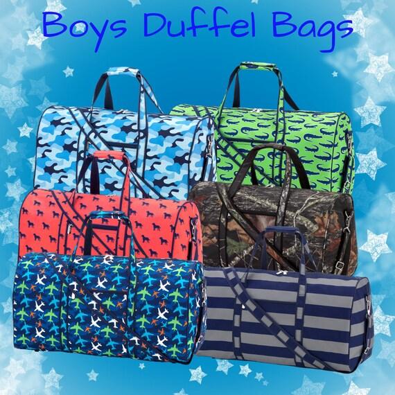 ac2387b7cc78 Boys Duffel Bag| Monogrammed Duffel| Boys Print Personalized Duffel|  Monogrammed Boys Duffel Bag| Travel Duffel Bag| Kids Duffel