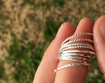 Sterling Silver Stacking Ring | Sterling Silver Stacker Rings | Silver Rings | Stacking Rings | Simple Rings | Bridesmaid Jewlery