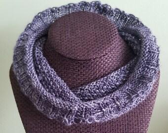 Studded Mail Knit Neckwarmer