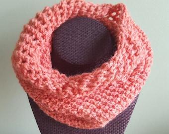 Pink Rose Wool Cowl