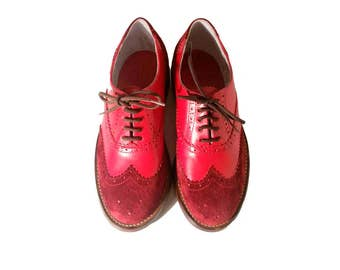79ff6d5308be7 Women oxford shoes red leather shoes custom shoes handmade