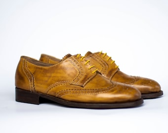 Mens shoes-Custom shoes-Leather shoes-derby shoes-shoes-handmade shoes-tie shoes-custom shoes-mens shoes-classic shoes-wingtips-flat shoes