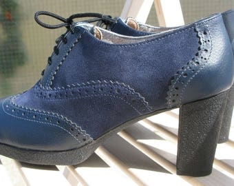 Oxford boots- womens boots-heels-Leather boots-handmade- oxford shoes women-womens oxfords-oxford-boots
