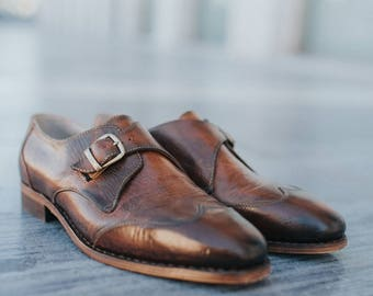 Monk strap brogues- monk-leather shoes- shoes-custom shoes-handmade shoes-goodyear welted-shoes-womens shoes-mens shoes