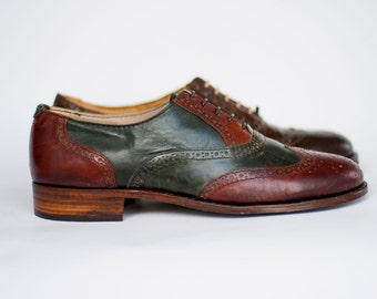 Oxford shoes-Mens brogues-Handmade shoes- Mens Oxfords- Mens Oxford Shoes- Custom Shoes-Man Shoes-Leather shoes-brogues-mens brogues-wingtip