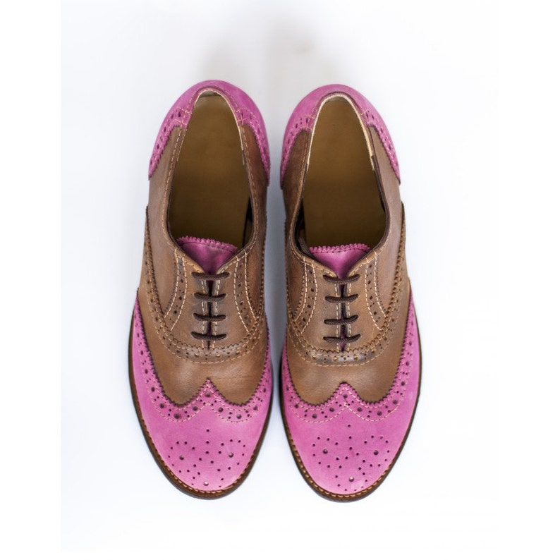 09df376663db6 Women Oxfords -Womens oxford shoes- Wingtips- Oxford Shoes-custom  shoes-leather shoes-handmade shoes-women shoes-brogues-pink shoes