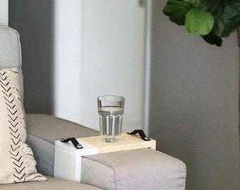 REGULAR Two Tone Sofa Tray | Sofa Arm Tray - Sofa Table - Sofa Arm Table- Tray Table - Leather Tray -Couch Table - Couch Tray - Couch Arm