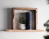 SQUARE Shelf   Box Shelf - Floating Shelf - Wall Shelf - Geometric Shelf - Wood Shelf - Floating Shelf