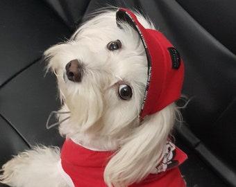 f8cb6478 Personalized Dog Cap RED, Dog Visor, Dog Hat, Free Shipping, Dog Baseball  Hat, Dog accessory, Pet Hat
