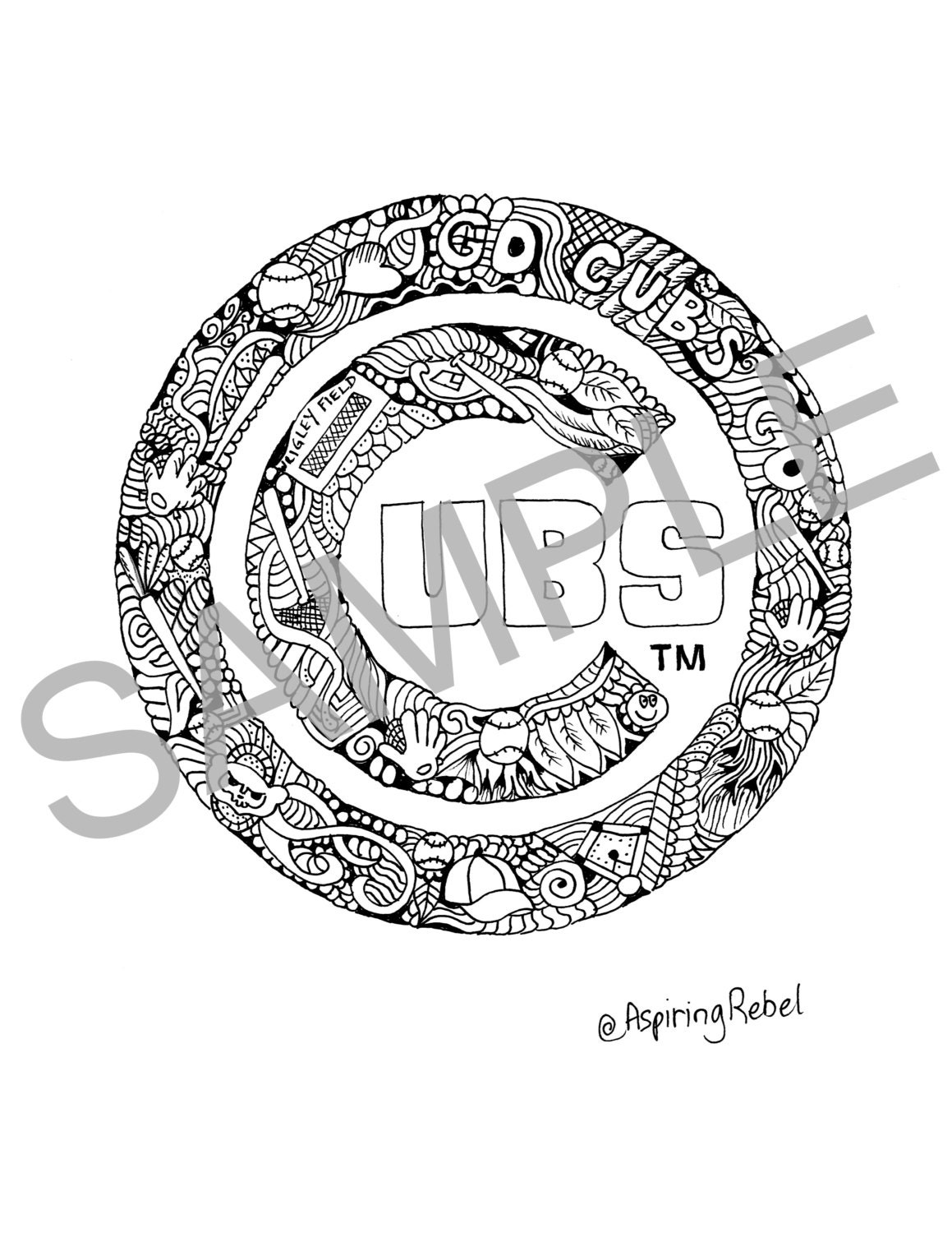 Chicago Cubs Coloring Pages Best Image Coloring Page