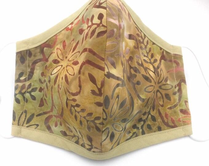 Batik Cotton Face Mask, Face mask, Cotton Dust Shield, Washable Face Mask, Re-useable Face Mask.