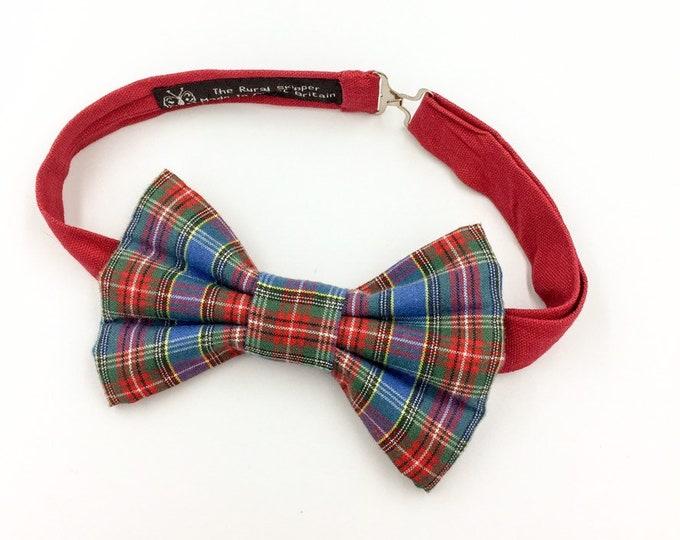Macbeth tartan bow tie, blue tartan bow tie.