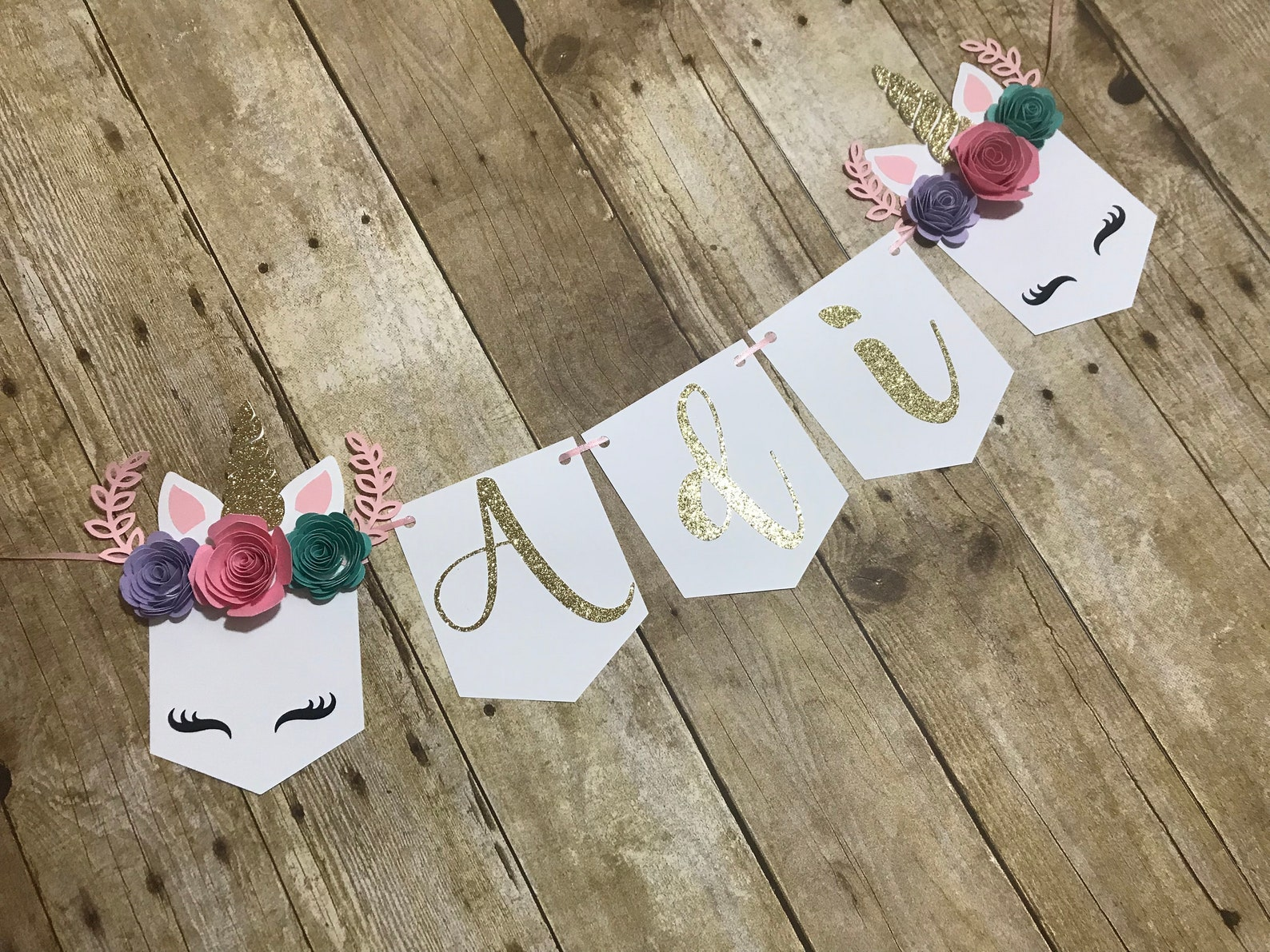 Unicorn Pennant Banners Page Six