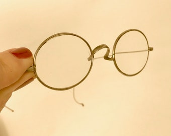 7e94be6bf08 Antique Silver Plate Oval Wire Rim Eye Glasses - Vintage Oval Spectacles  Glasses Silver