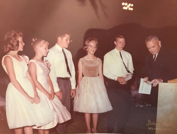 Vintage Photo Formally Dressed Young Men And Women Receiving Etsy