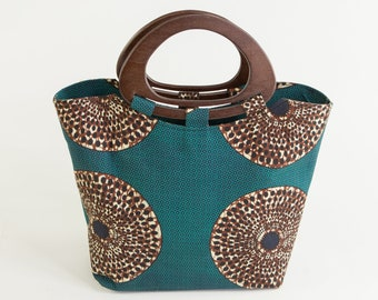 ABASI: African Handbag, African Tote Bag, African Purse, Ankara Purse, Ankara Bag, Ankara Handbag, Dashiki Bag, Tote Bag, Top Handle Bag