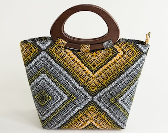 AZARE: African Handbag, African Tote Bag, African Purse, Ankara Purse, Ankara Bag, Ankara Handbag, Dashiki Bag, Tote Bag, Top Handle Bag
