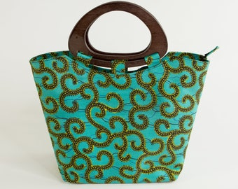 EKPENE: African Handbag, African Tote Bag, African Purse, Ankara Purse, Ankara Bag, Ankara Handbag, Dashiki Bag, Tote Bag, Top Handle Bag
