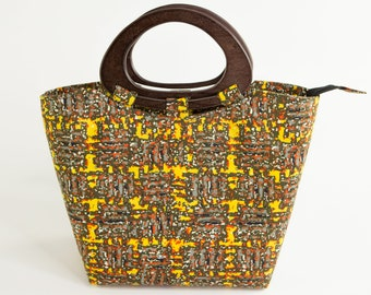 WARRI: African Handbag, African Tote Bag, African Purse, Ankara Purse, Ankara Bag, Ankara Handbag, Dashiki Bag, Tote Bag, Top Handle Bag