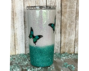 YETI, Yeti Cup, Yeti Tumbler, Butterfly Cup, Butterfly Wings, Glitter Tumbler, Ozark Trail Tumbler, Pretty Cups, Mothers Day Gift Ideas