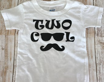 Two Cool Shirt, Toddler Boy Clothes, Two Year Old Birthday Shirt, Birthday Shirt, Toddler Shirts, Cool Toddler Shirts, Two Cool