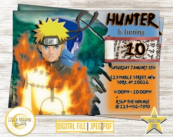 Naruto birthday etsy naruto invitation naruto birthday naruto party naruto invites stopboris Choice Image