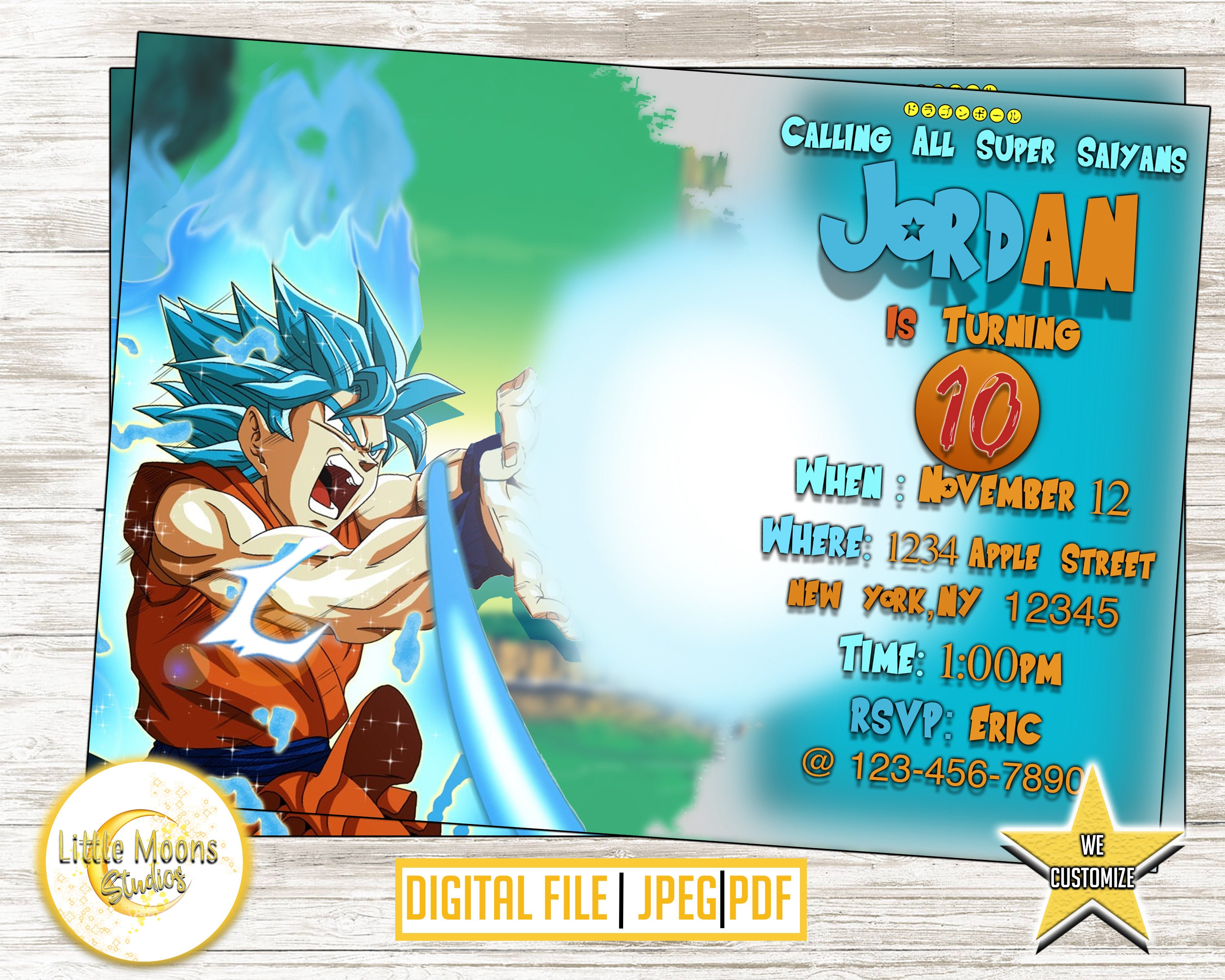 DRAGONBALL Z BIRTHDAY INVITATION