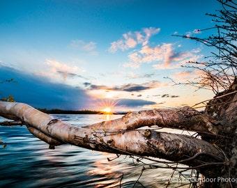 Sunburst Over the Talkeetna River- Metal, Canvas, or Print!