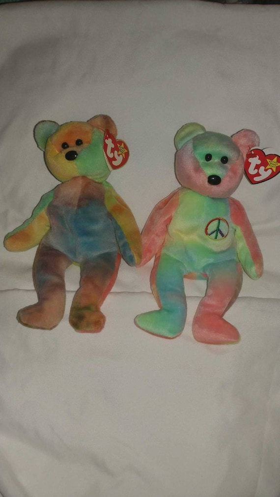5db19c8757c Garcia Beanie Baby Peace Beanie Baby Duo for sale both with