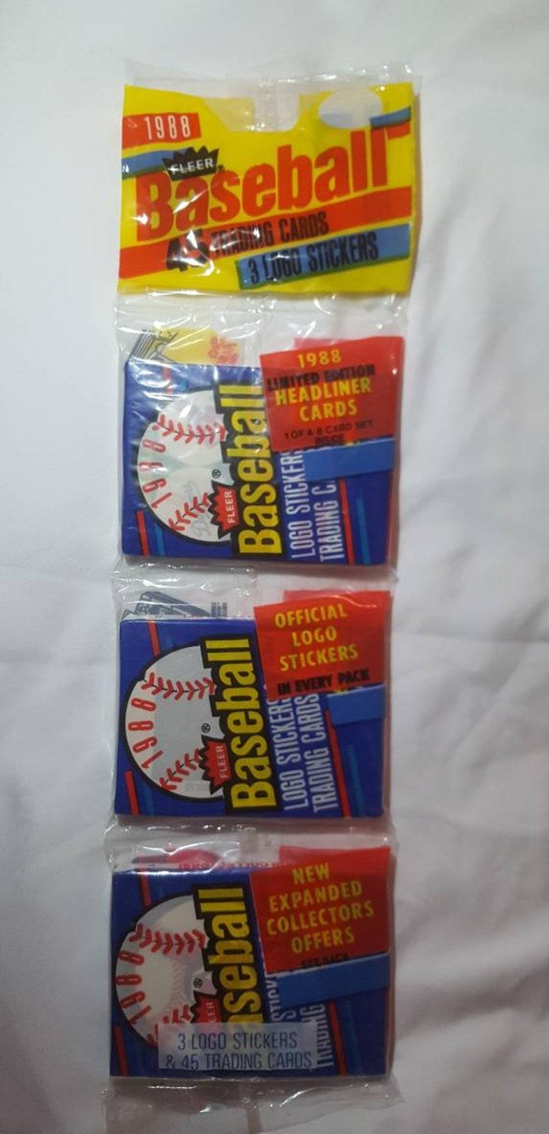 1988 Fleer Baseball Card 3 Pack Sealed Unopened