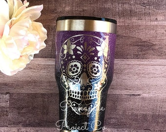 5e1b6b10cd2 Dia de los Muertos-Sugar Skull-Day of the Dead-Glitter Cup-Ozark Tumbler-Yeti  Rambler-