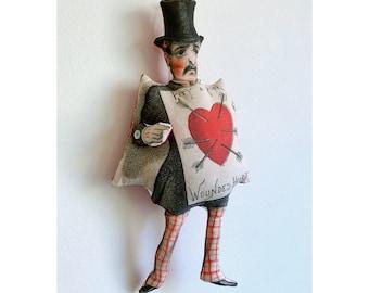 Heartbroken Gentleman / Sad Vintage Victorian Man / Valentines Day / Top Hat / Broken Heart / Pity a Poor Man