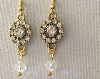 Antique gold chandelier earrings