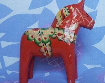 Orange Dala Horse