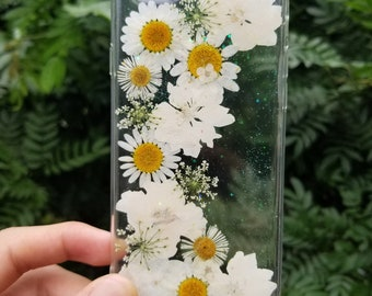 Handmade Pressed Flower phone case,dried flower case, iPhone 6 6s 7 8 Plus case,Samsung galaxy S7 S8 S9 note 8 case,LG G7 case,iPhone x case