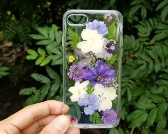 Handmade Pressed Flower phone case,dried flower case, iPhone 6 6s 7 8 Plus case,Samsung galaxy S7 S8 S9 note8 case,LG V30 case,iPhone x case