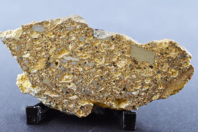 34 mm 18,85g Certificate Meteorite Crater Ilyinets Impactite Breccia Crater Ukraine Impact breccia Suevite  62