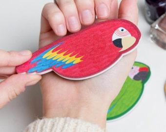 Nail File Set - Parrot Nail Files - Set of 3 Nail Files - Nail File Favour - Tropical Party Favour - Colourful Party Favour - Colourful Gift